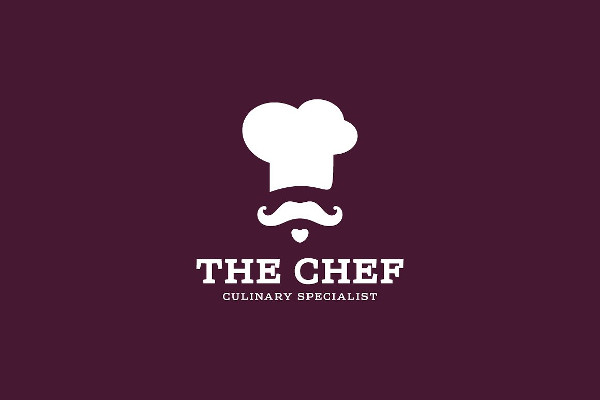 Chef Culinary Logo Design in Flat Style