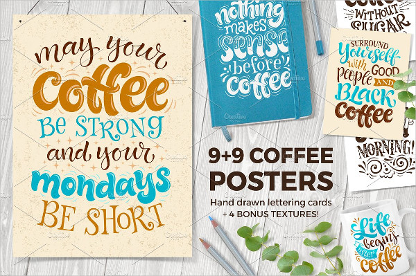 Coffee Shop Menu Posters & Cards