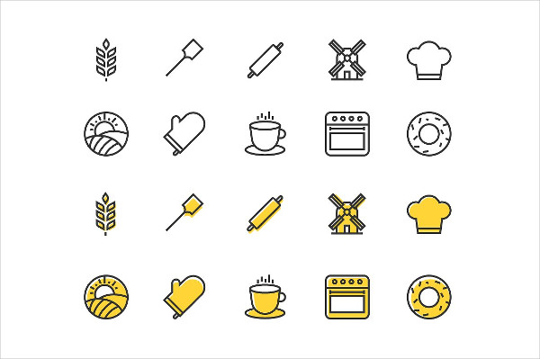 Small Set of Bakery Icons