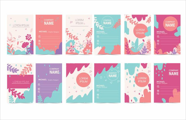 Colorful Graphic Design Business Cards