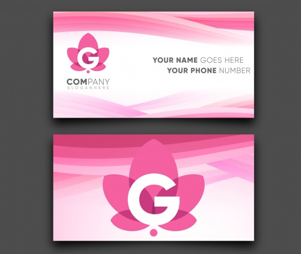 Colorful & Modern Business Card Free Vector