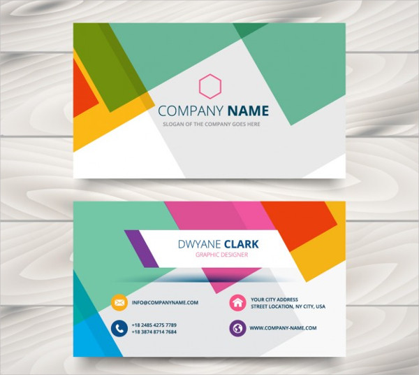 Colorful Visiting Card Free Vector