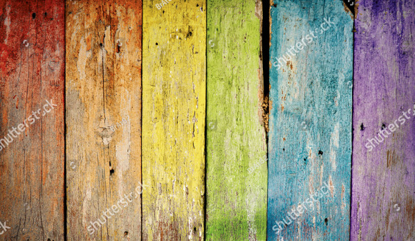 Colorful Wooden Rainbow Background