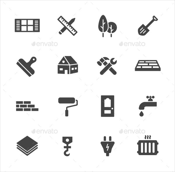 Construction & Home Repair Icons