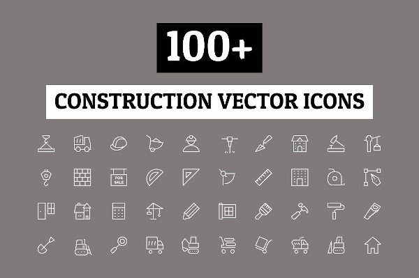 Construction Stroke Icons