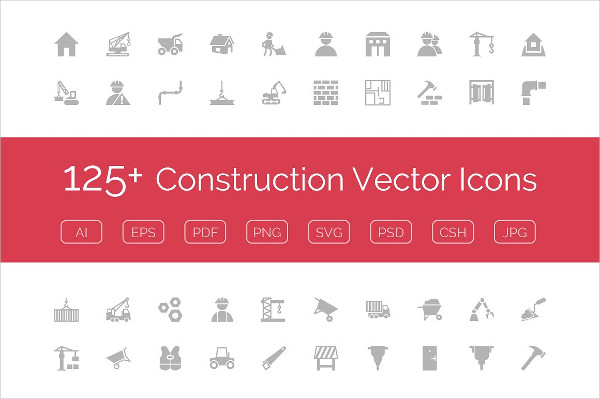 Construction Vector Icons Pack
