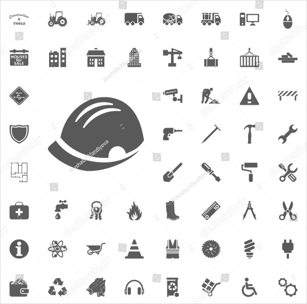 Construction and Tools Vector Icons
