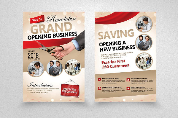 Creative Grand Opening Business Flyer Template