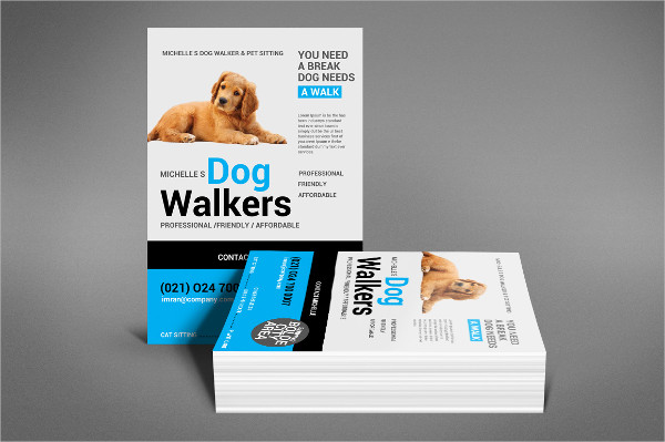 Dog Walking Flyer Examples