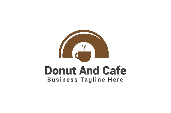 Donut And Cafe Logo Template