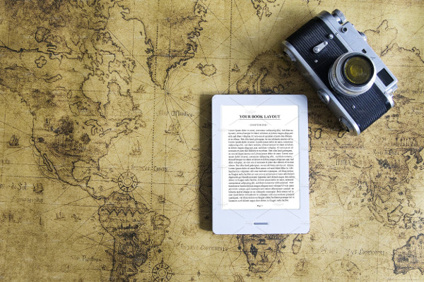E-Book Reader & Old Camera Mockups