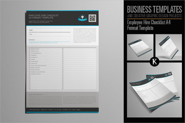 New Hire Checklist InDesign Template