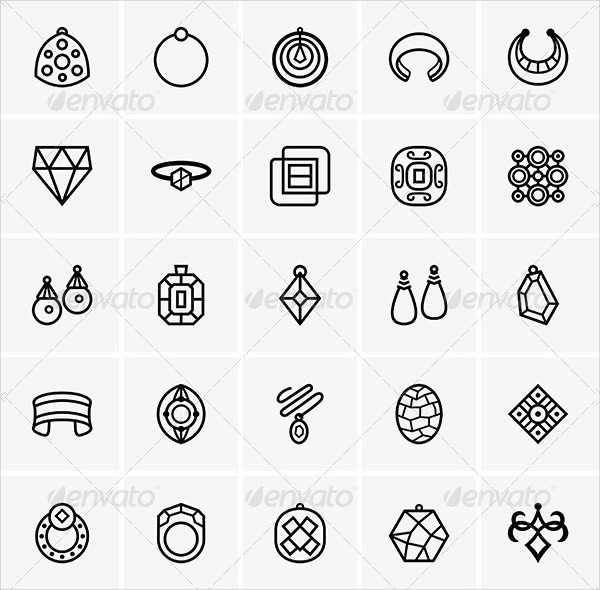 Fashion Jewelry Icon Pack