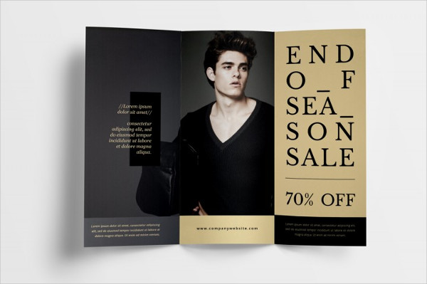 Fashion Trifold Brochure InDesign Template