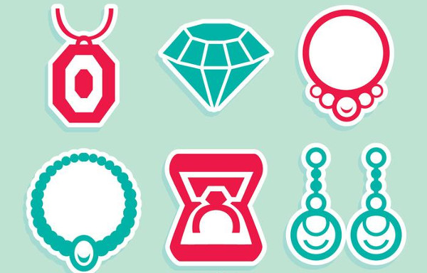 Free Jewelry Nice Icons Vector