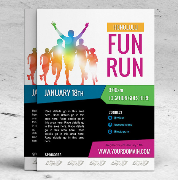 25  marathon flyer templates