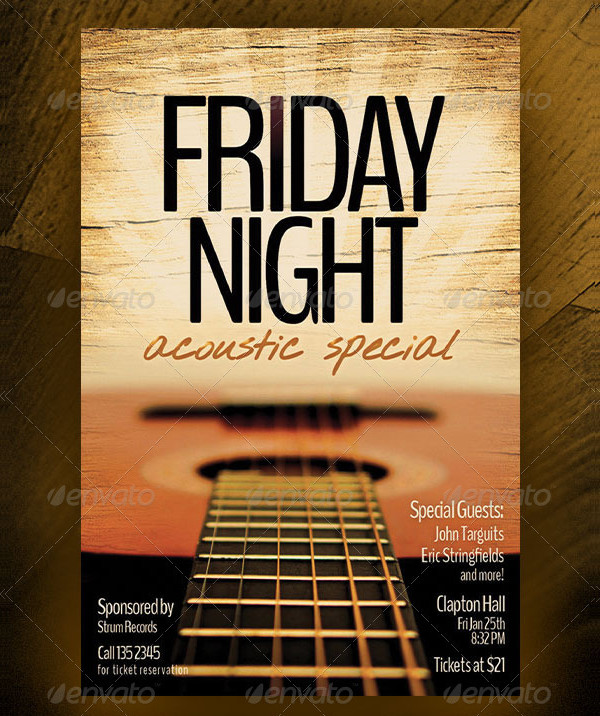 Friday Night Acoustic Special Design