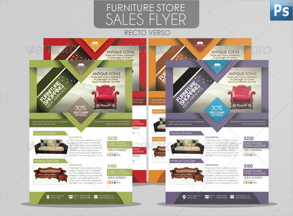 Furniture Store Sales Flyer Template