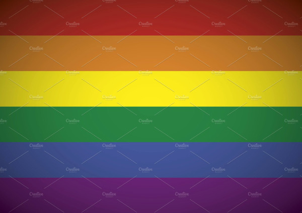 Gay flag rainbow background