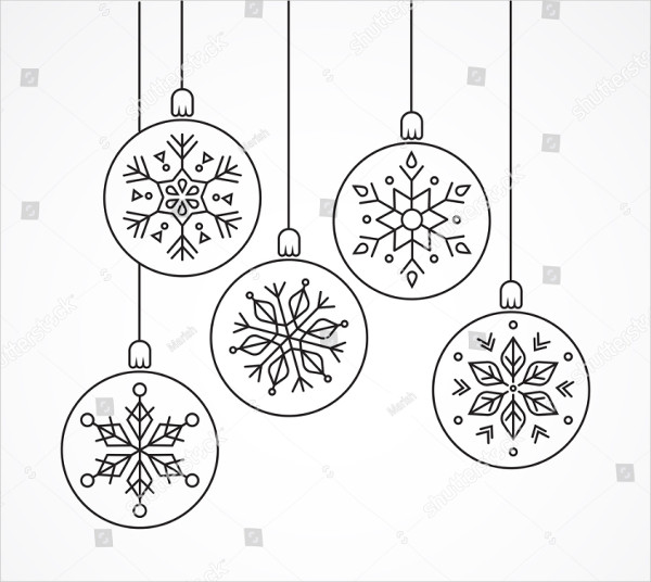 Geometric Christmas Ornaments Designs