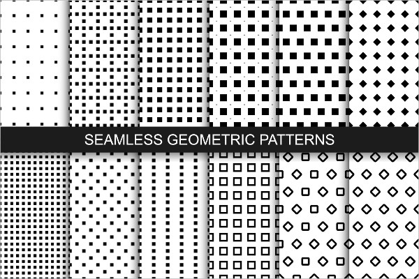 Geometric Patterns Black and White
