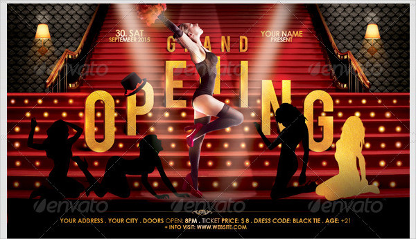 Attractive Grand Opening Club Flyer Template