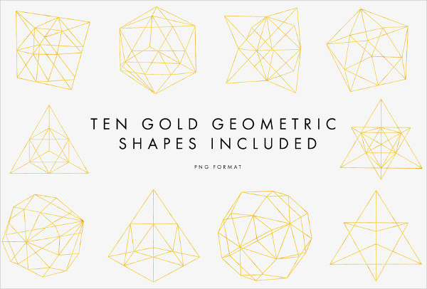 Gold Geometric Pattern Pack