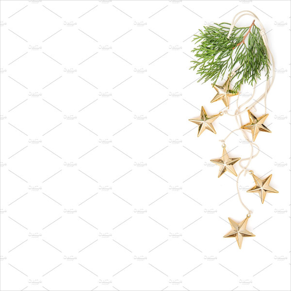Golden Stars Christmas Ornaments