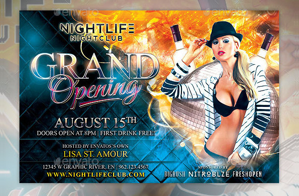 Popular Grand Opening Flyer Template