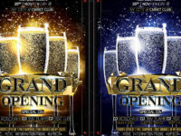 21+ Grand Opening Flyers