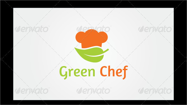 Green Chef Hat Logo Template