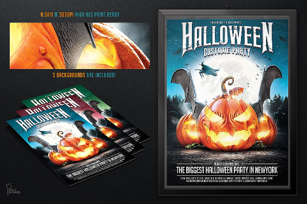 Halloween Holiday Party Flyer Template