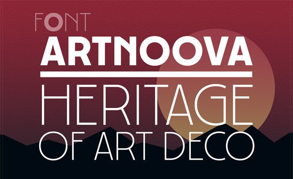 Heritage of Art Deco Fonts