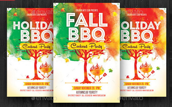 Holiday BBQ Party Flyer Design