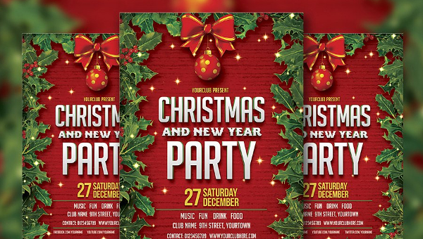 27 Holiday Party Flyer Templates Free Premium Download