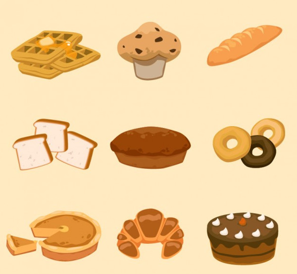 Free Download Bakery Icons