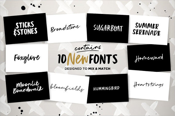 Instaquote Lettering Fonts Kit