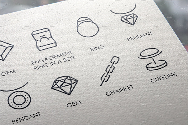 Jewelry Thin Line Icons