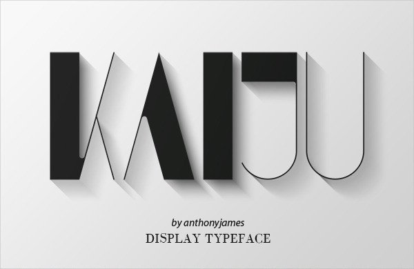 Kaiju Art Deco Display Font