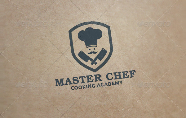 Master Chef Cooking Academy Logo Template