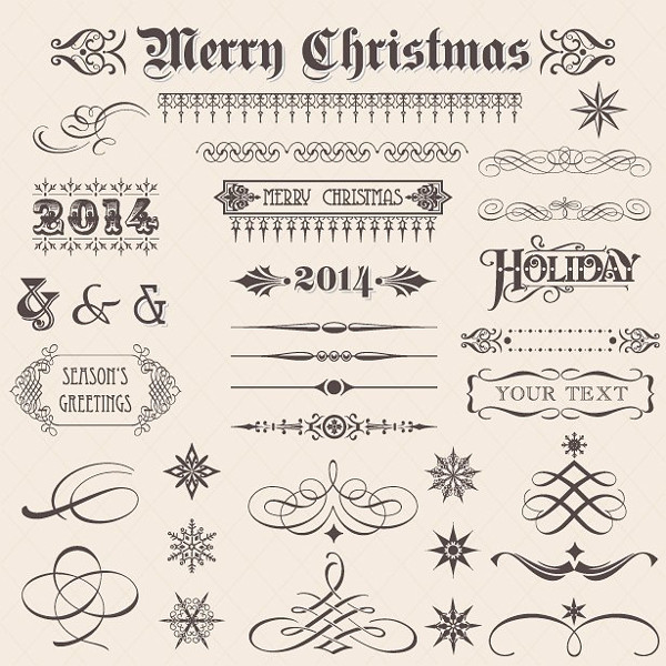 Merry Christmas Ornament Vectors