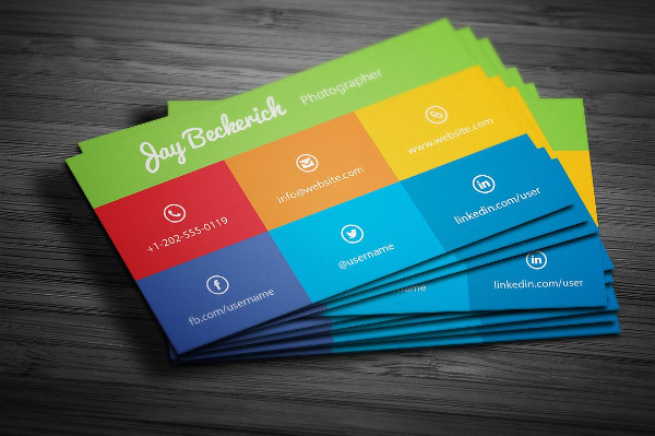 Metro Flat Colorful Business Card Template