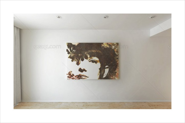 Mock Up of Art Wall Free PSD