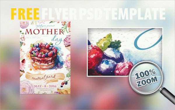 Mothers Day PSD Flyer Template