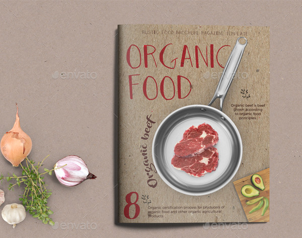 Organic Food Magazine or Brochure Template