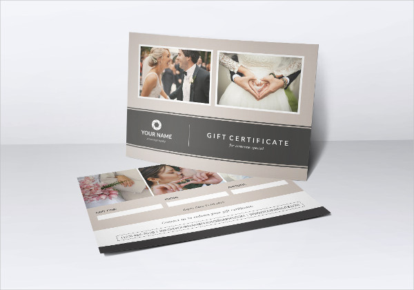Photography Gift Certificate Design