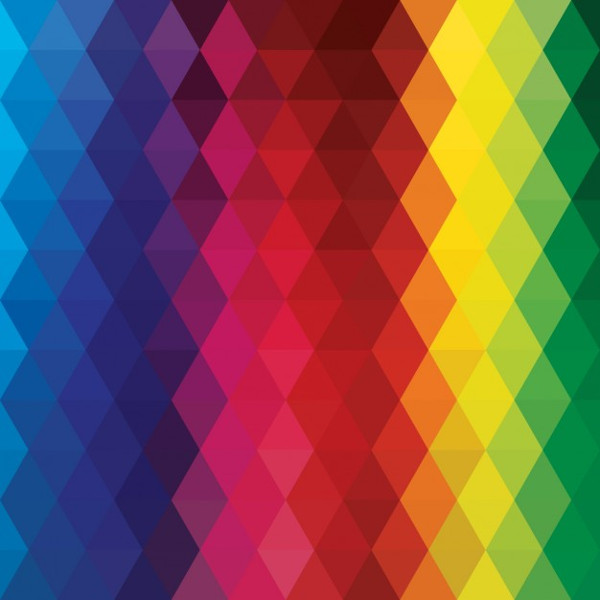 Polygonal Background with Rainbow Colors
