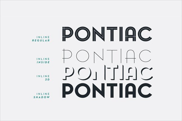 Pontiac Art Deco Fonts Pack