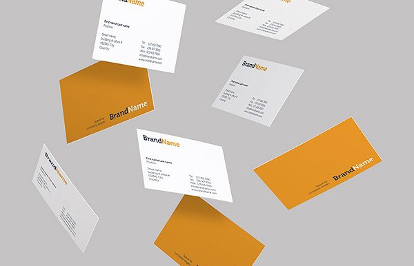 Printable Business Cards Mock-Ups & Templates