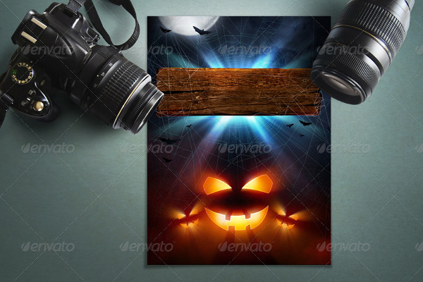 Printable Camera Poster Mock-up Template